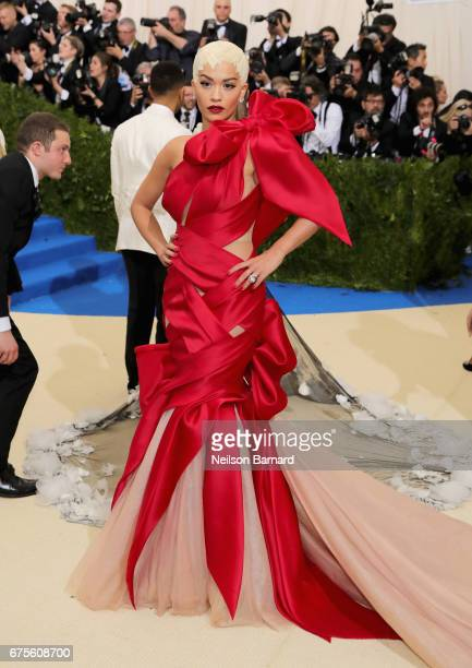 "Rita Ora attends the ""Rei Kawakubo/Comme des Garcons: Art Of The In-Between"" Costume Institute Gala at Metropolitan Museum of Art on May 1, 2017 in..."