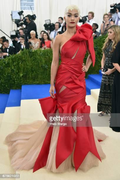 Rita Ora attends the 'Rei Kawakubo/Comme des Garcons Art Of The InBetween' Costume Institute Gala at Metropolitan Museum of Art on May 1 2017 in New...