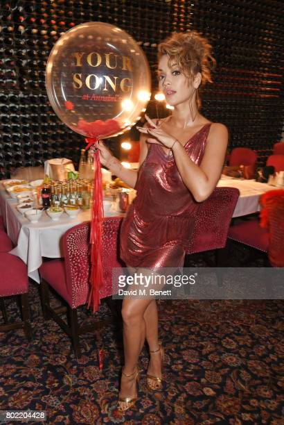 Rita Ora attends the Rita Ora dinner and performance at Annabel's on June 27 2017 in London England