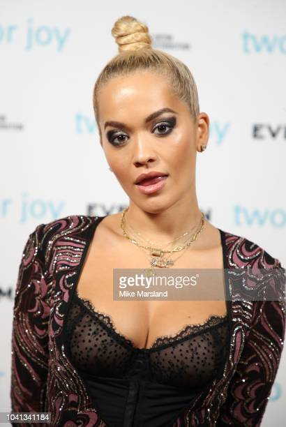 Rita Ora attends the UK premiere of 'Two For Joy' at The Everyman Cinema on September 26 2018 in London England