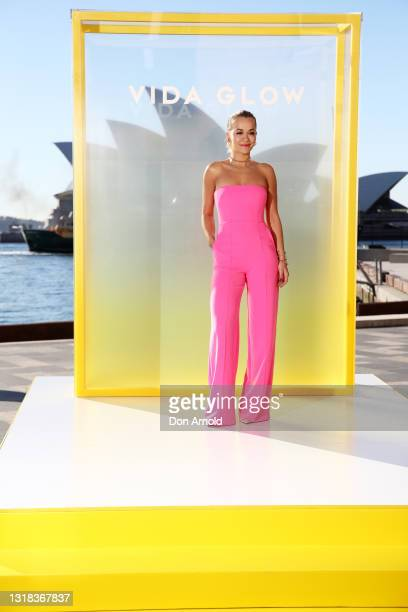 Rita Ora attends the Vide Glow global launch at Sydney Harbour on May 17, 2021 in Sydney, Australia.