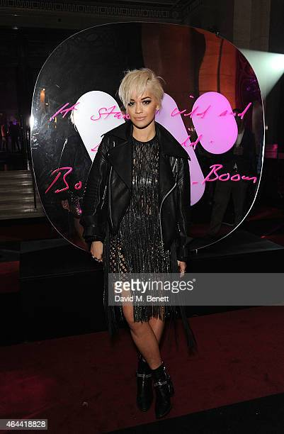 Rita Ora attends The Warner Music Brit Party 2015 at Freemasons Hall on February 25 2015 in London England