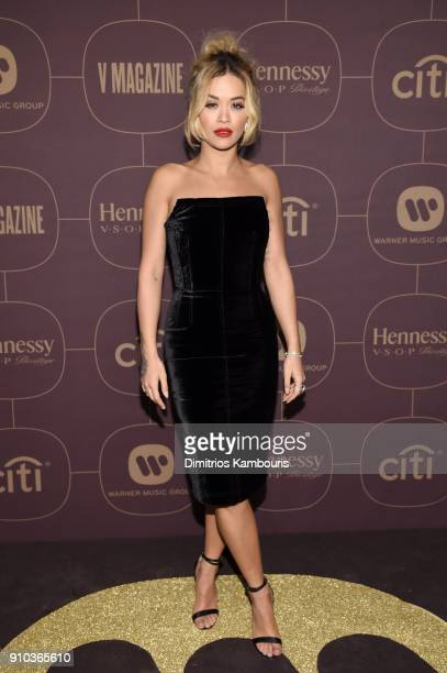 Rita Ora attends the Warner Music Group PreGrammy Party in association with V Magazine on January 25 2018 in New York City