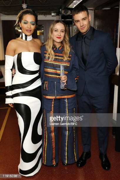 Rita Ora, Bethany Williams and Liam Payne backstage stage during The Fashion Awards 2019 held at Royal Albert Hall on December 02, 2019 in London,...