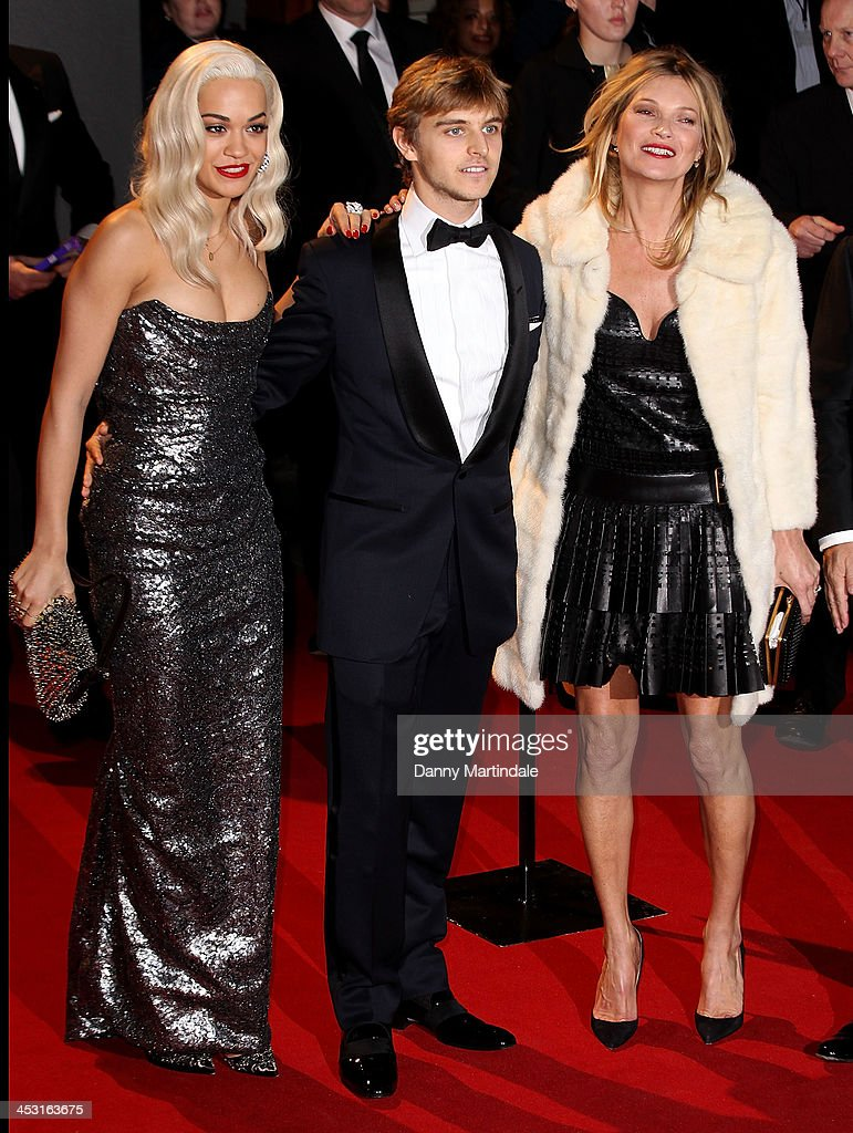 Rita Ora, Brandon Green and Kate Moss attend the British Fashion Awards 2013 at London Coliseum on December 2, 2013 in London, England.