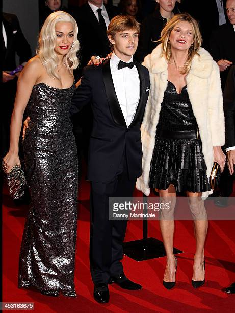 Rita Ora Brandon Green and Kate Moss attend the British Fashion Awards 2013 at London Coliseum on December 2 2013 in London England
