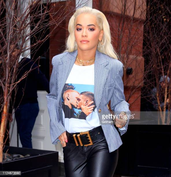 Rita Ora departs her hotel on February 13 2019 in New York City