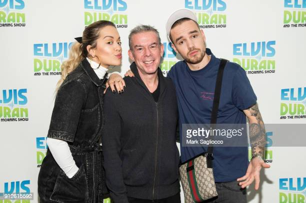 Rita Ora Elvis Duran and Liam Payne visit 'The Elvis Duran Z100 Morning Show' at Z100 Studio on January 31 2018 in New York City