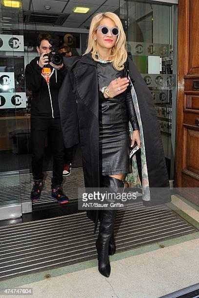Rita Ora is seen arriving at the BBC Radio 1 studios on November 05 2012 in London United Kingdom