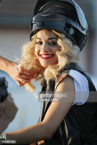 Rita Ora is seen as she filming her music video for 'Shine Ya Light' on September 08, 2012 in Pristina, Serbia.