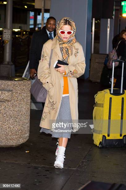 Rita Ora is seen at JFK airport in Queens on January 23 2018 in New York City