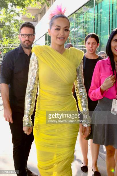 Rita Ora is seen attending 2018 Fragrance Foundation Awards at Alice Tully Hall at Lincoln Center on June 12 2018 in New York City
