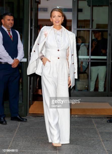 Rita Ora is seen in Midtown on August 19 2018 in New York City