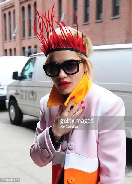 Rita Ora is seen in Soho on March 12, 2014 in New York City.