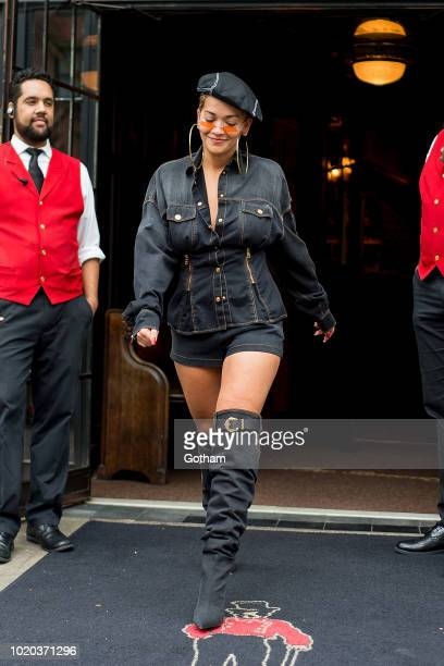 Rita Ora is seen in the East Village on August 20 2018 in New York City