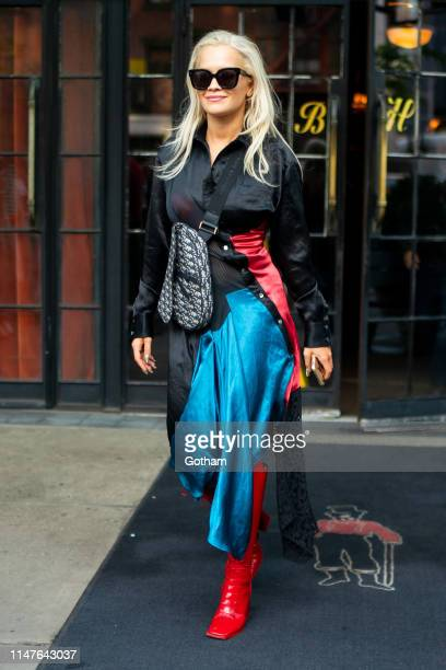 Rita Ora is seen in the East Village on May 07 2019 in New York City