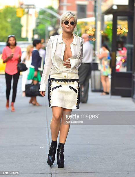 Rita Ora is seen in the Meat Packing District on June 22 2015 in New York City
