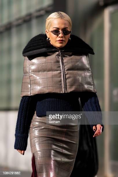 Rita Ora is seen in Tribeca on December 18 2018 in New York City