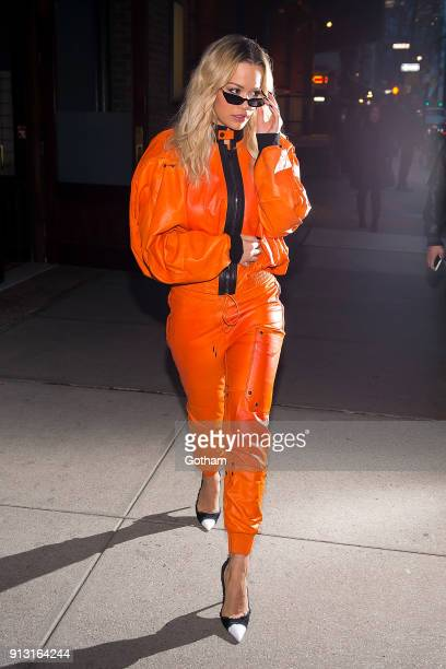 Rita Ora is seen in Tribeca on February 1 2018 in New York City