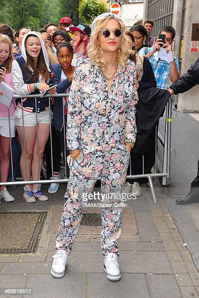 Rita Ora is seen leaving the BBC Radio 1 studios on August 29 2012 in London United Kingdom