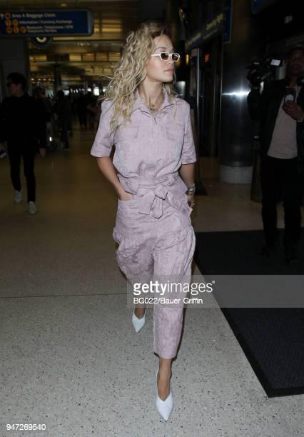 Rita Ora is seen on April 16 2018 in Los Angeles California