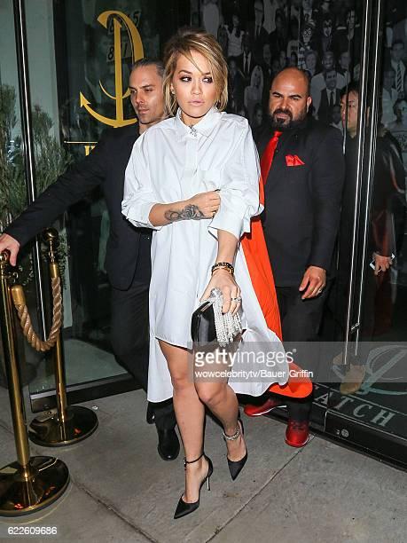 Rita Ora is seen on November 12 2016 in Los Angeles California