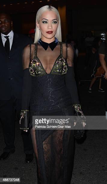 Rita Ora is seen on September 16 2015 in New York City