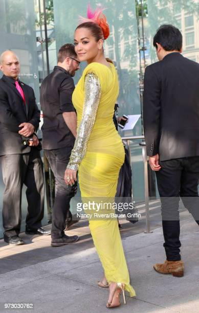 Rita Ora is seen outside 2018 Fragrance Foundation Awards at Alice Tully Hall at Lincoln Center on June 12 2018 in New York City