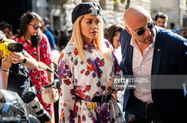 Rita Ora is seen outside Dior Homme on day five of Paris Fashion Week Menswear SS19 on June 23 2018 in Paris France