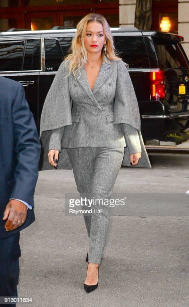 Rita Ora is seen walking in Midtown on February 1 2018 in New York City
