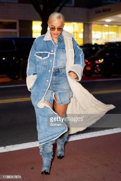 Rita Ora is seen wearing Diesel in Chelsea on March 24, 2019 in New York City.