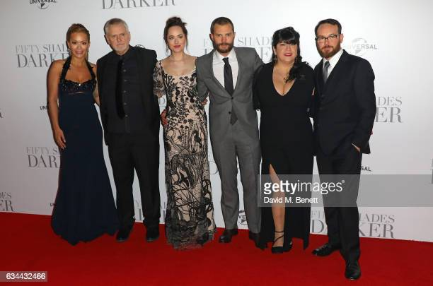 Rita Ora James Foley Dakota Johnson Jamie Dornan E L James and guest attend the UK Premiere of Fifty Shades Darker at Odeon Leicester Square on...