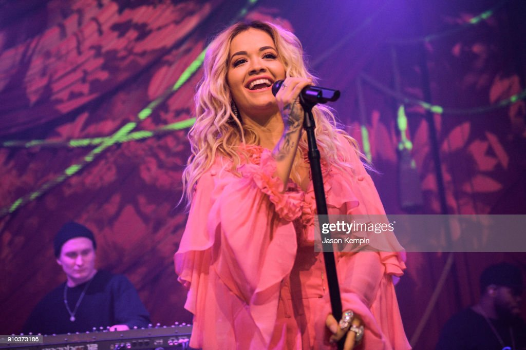 """Rita Ora & Absolut Lime Kick-Off Grammy Awards Weekend With First Live Performance Of New Song, """"Proud"""" At the Absolut Open Mic Project x Spotify Event In NYC : News Photo"""