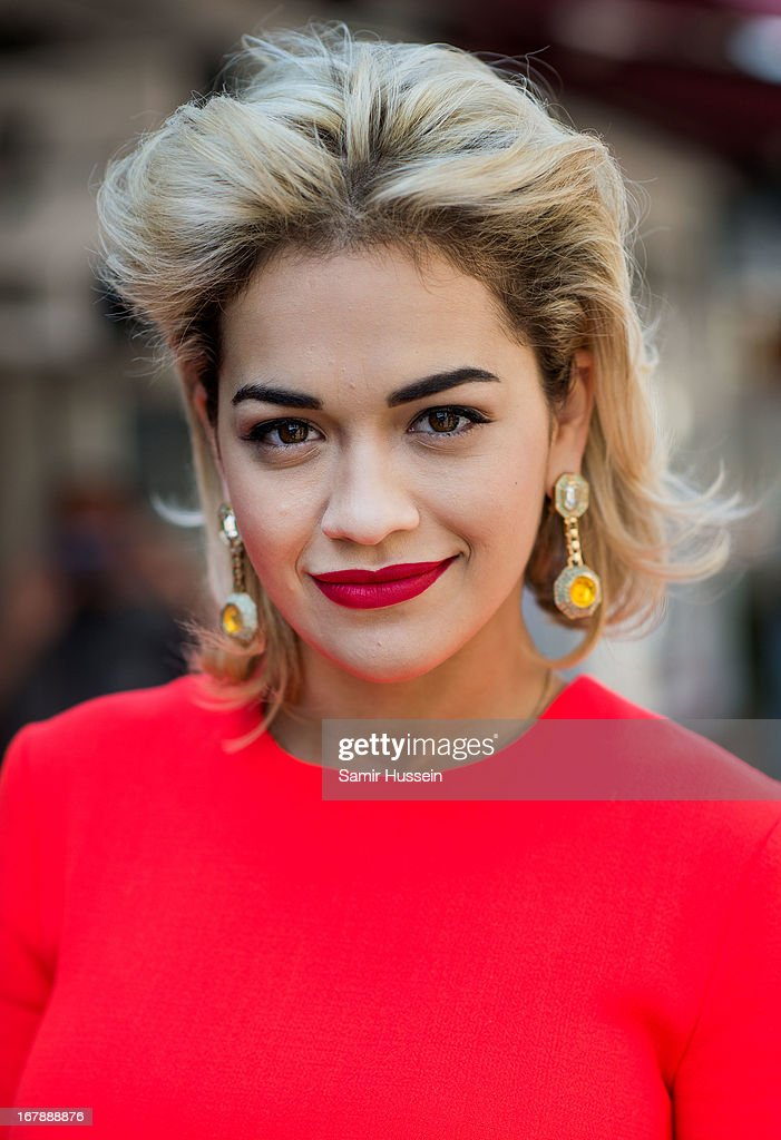 Rita Ora launches the British Designers' Collection at Bicester Village on May 2, 2013 in Bicester, England.