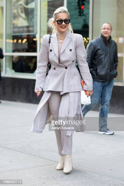 Rita Ora leaves a meeting on January 17 2019 in New York City