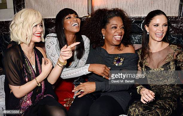 Rita Ora Naomi Campbell Oprah Winfrey and Georgina Chapman attend The Weinstein Co Entertainment and Pathe postBAFTA party hosted by hosted by...