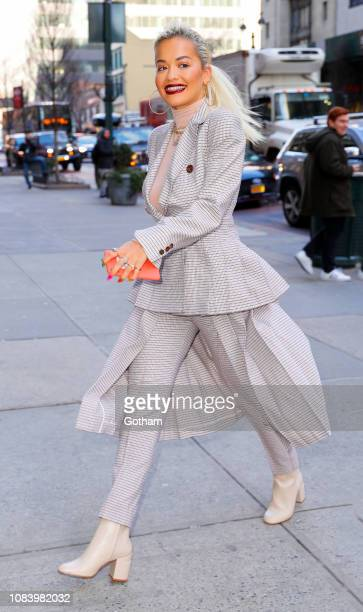 Rita Ora out and about on January 17 2019 in New York City
