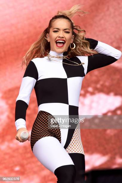 Rita Ora performs during day 2 of BBC Radio 1's Biggest Weekend 2018 held at Singleton Park on May 27 2018 in Swansea Wales