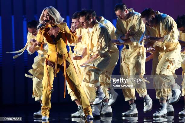 Rita Ora performs during the 32nd Annual ARIA Awards 2018 at The Star on November 28 2018 in Sydney Australia