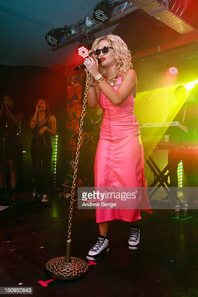 Rita Ora performs on stage at Sound Control on August 29 2012 in Manchester United Kingdom