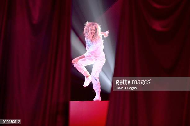 AWARDS 2018 *** Rita Ora performs on stage at The BRIT Awards 2018 held at The O2 Arena on February 21 2018 in London England