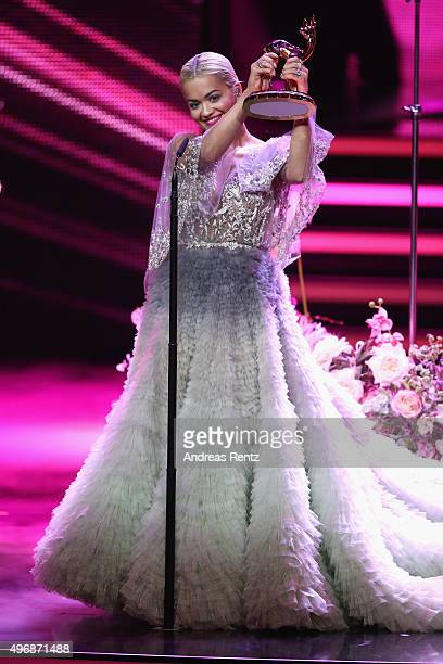 Rita Ora performs on stage during the Bambi Awards 2015 show at Stage Theater on November 12 2015 in Berlin Germany