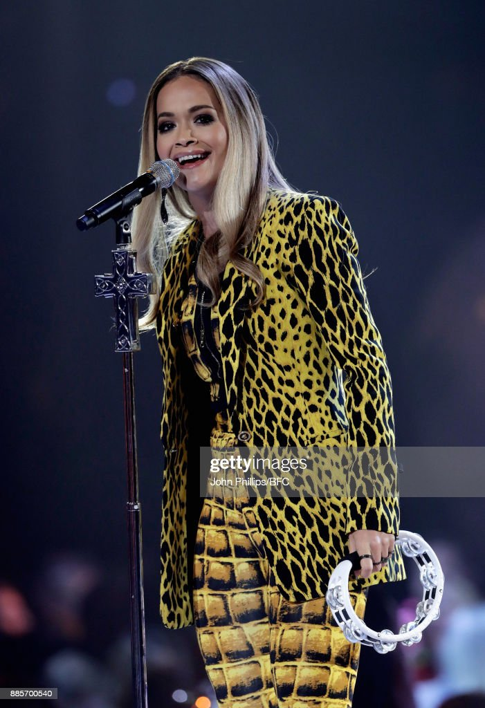 Rita Ora performs on stage during The Fashion Awards 2017 in partnership with Swarovski at Royal Albert Hall on December 4, 2017 in London, England.