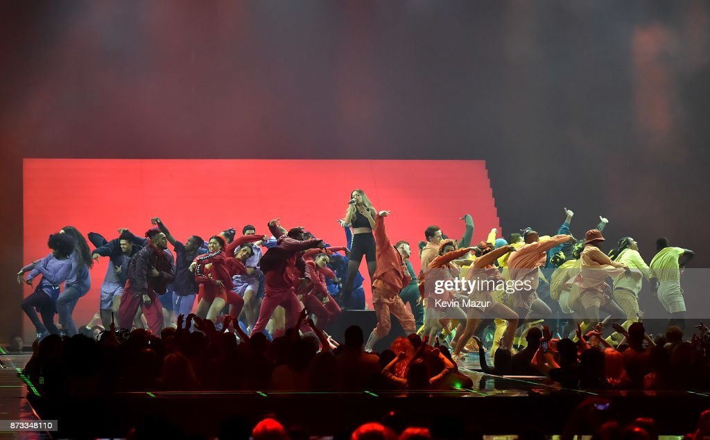 Rita Ora performs on stage during the MTV EMAs 2017 held at The SSE Arena, Wembley on November 12, 2017 in London, England.