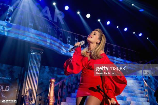Rita Ora performs onstage at the amfAR Gala Cannes 2017 at Hotel du CapEdenRoc on May 25 2017 in Cap d'Antibes France