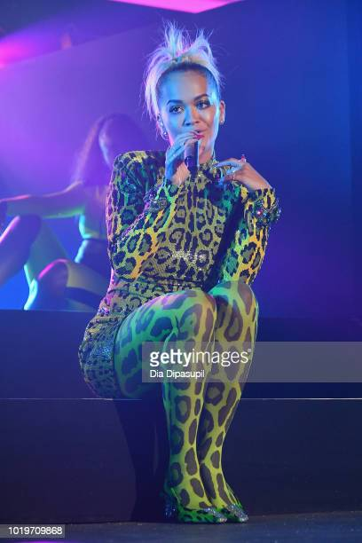Rita Ora performs onstage during the MTV VMA Kickoff Concert presented by DirecTV Now at Terminal 5 on August 19 2018 in New York City