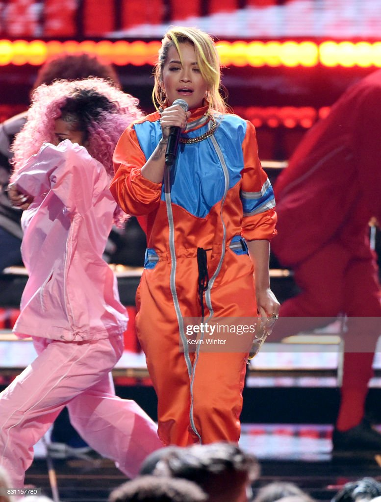 Rita Ora performs onstage during the Teen Choice Awards 2017 at Galen Center on August 13, 2017 in Los Angeles, California.