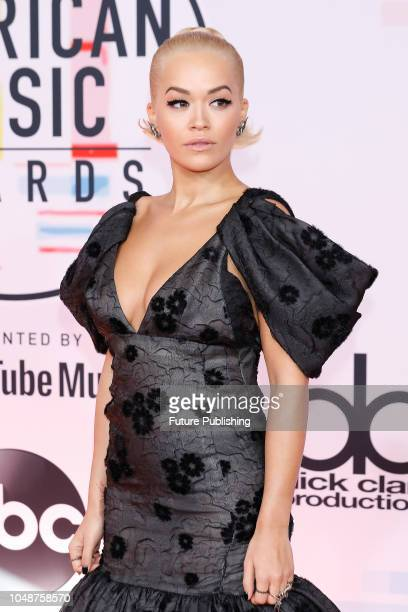 Rita Ora photographed on the red carpet of the 2018 American Music Awards at the Microsoft Theater on October 9 2018 in Los Angeles USA