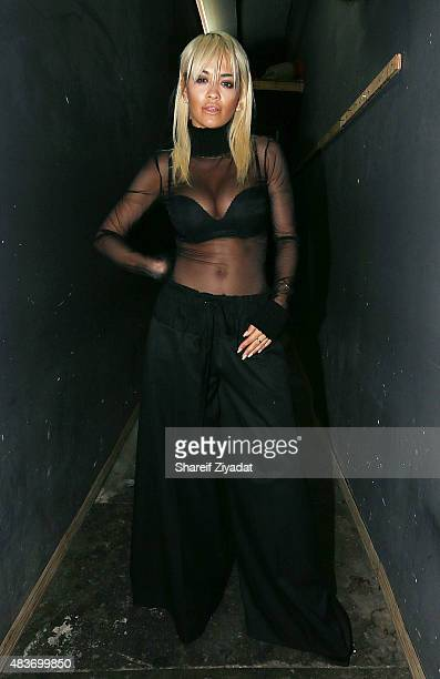 Rita Ora poses at Stage 48 on August 11 2015 in New York City