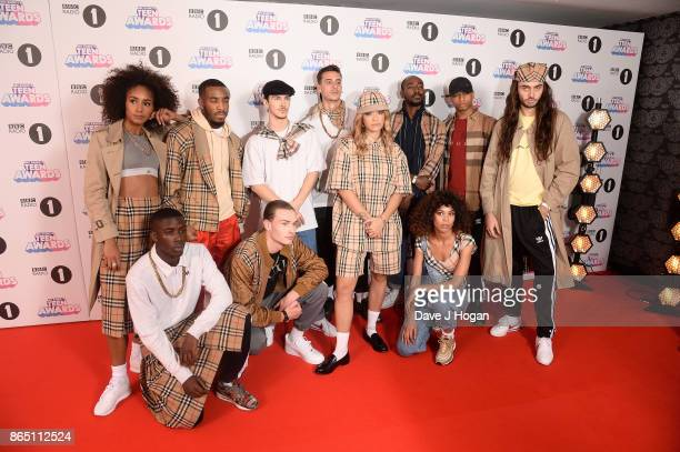Rita Ora poses with models at the BBC Radio 1 Teen Awards 2017 at Wembley Arena on October 22 2017 in London England